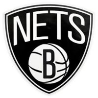 NBA Brooklyn Nets Logo Small Outdoor Decal
