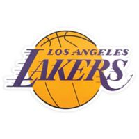 NBA Los Angeles Lakers Logo Small Outdoor Decal