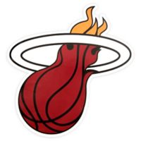 NBA Miami Heat Logo Small Outdoor Decal