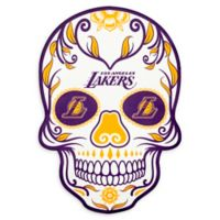 NBA Los Angeles Lakers Small Skull Outdoor Decal