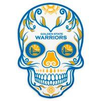 NBA Golden State Warriors Small Skull Outdoor Decal