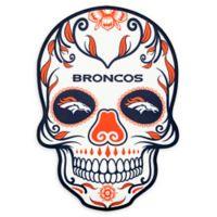 NFL Denver Broncos Large Skull Outdoor Decal