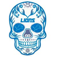 NFL Detroit Lions Large Skull Outdoor Decal