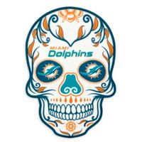 NFL Miami Dolphins Large Skull Outdoor Decal