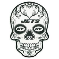 NFL New York Jets Large Skull Outdoor Decal