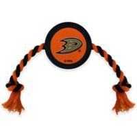NHL Anaheim Ducks Rubber Hockey Puck Dog Rope Toy