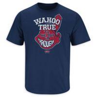 MLB Cleveland Indians Wahoo True Medium T-Shirt in Navy