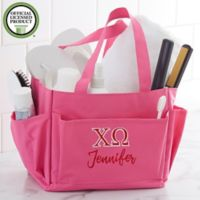 Chi Omega Embroidered Shower Caddy