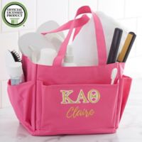 Kappa Alpha Theta Embroidered Shower Caddy