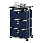 Studio 3B™ 3-Drawer Adjustable-Top Storage Cart in Peacoat