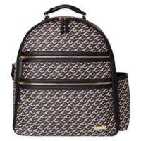 SKIP*HOP® Deco Saffiano Diaper Backpack in Black