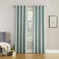 Simon Fleece-Lined 84-Inch Grommet Room Darkening Window Curtain Panel in Aqua