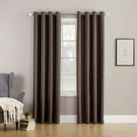 Simon Fleece-Lined 95-Inch Grommet Room Darkening Window Curtain Panel in Carob