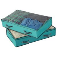 Studio 3B™ Underbed Storage Bags in Aqua (Set of 2)