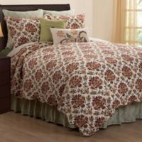 Agnes Floral Reversible King Quilt in Green