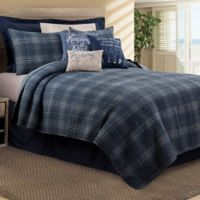 Anthony Full/Queen Reversible Quilt Set in Navy