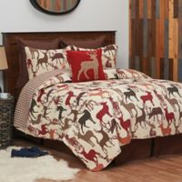Colton Reversible King Quilt Set in Tan