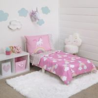 Little Tikes® Rainbows and Unicorns 4-Piece Toddler Bedding Set in Pink