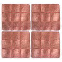 Buffalo 36-Inch x 36-Inch Interlocking Anti-Fatigue Rubber Floor Mats in Red (Set of 4)