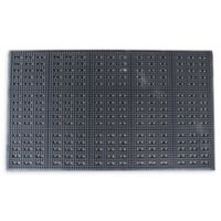 Buffalo 36-Inch x 60-Inch Anti-Fatigue Rubber Floor Mat in Black