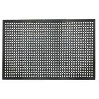 Buffalo 36-Inch x 60-Inch Industrial Rubber Floor Mat in Black