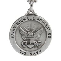 St. Michael 24-Inch Men's Navy Pendant