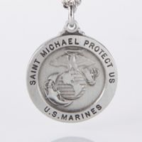 St. Michael 24-Inch Men's Marines Pendant