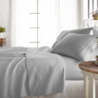 800-Thread-Count California King Sheet Set in Light Grey