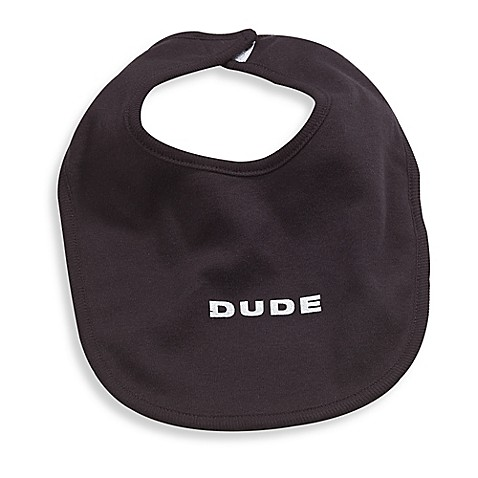 Silly Souls® Dude Bib in Black