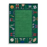 Momeni 'Lil Mo Whimsy 5-Foot Round Area Rug in Grass