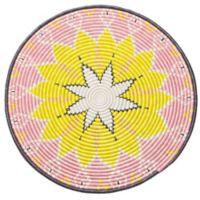 Kazi Queen Handwoven Jumbo Disk Wall Art in Blush