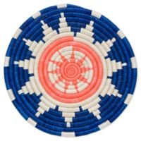Lake Hope 10-Inch Round Woven Wall Art in Blue/Pink