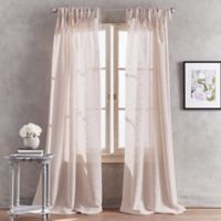 Peri Home Kelly 108-Inch Tab Top Window Curtain Panel in Dusty Rose