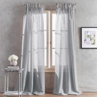 Peri Home Kelly 63-Inch Tab Top Window Curtain Panel in Silver