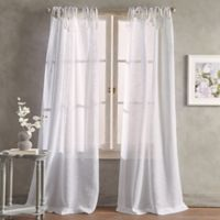 Peri Home Kelly 84-Inch Tab Top Window Curtain Panel in White