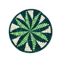 Island Paradise10-Inch Round Woven Wall Art
