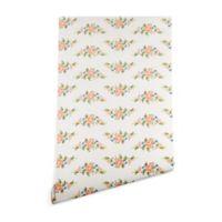 Deny Designs Florent Bodart Kitsch Pattern 2-Foot x 8-Foot Peel and Stick Wallpaper in Beige