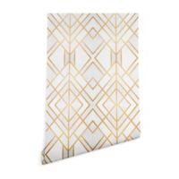 Deny Designs Elisabeth Fredriksson Golden Geo Wallpaper 2-Foot x 10-Foot Peel and Stick Wallpaper