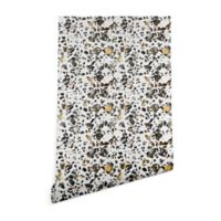 Deny Designs Elisabeth Fredriksson Speckled Terrazzo 2-Foot x 10-Foot Wallpaper in White