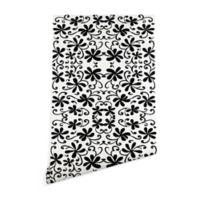 Deny Designs Rosie Brown Black on White 2-Foot x 10-Foot Wallpaper in Black