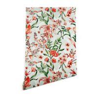 Deny Designs Florent Marta Barragan Camarasa Exotic Bloom 2-Foot x 10-Foot Peel and Stick Wallpaper