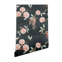 Deny Designs Holli Zollinger Floralista 2-Foot x 4-Foot Wallpaper in Black