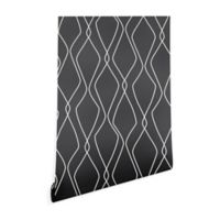 Deny Designs Heather Dutton Fuge Stone 2-Foot x 8-Foot Wallpaper in Black