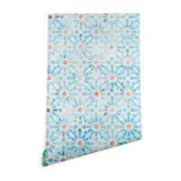 Deny Designs Schatzi Brown Hara Tiles 2-Foot x 8-Foot Peel and Stick Wallpaper in Light Blue