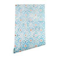Deny Designs Schatzi Brown Hara Tiles 2-Foot x 10-Foot Peel and Stick Wallpaper in Light Blue