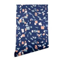 Deny Designs Mareike Boehmer Sketched Confetti 2-Foot x 8-Foot Peel and Stick Wallpaper in Blue