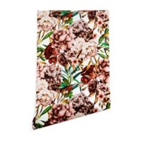 Deny Designs Marta Barragan Camarasa Vintage Flowers 2-Foot x 8-Foot Wallpaper in Pink