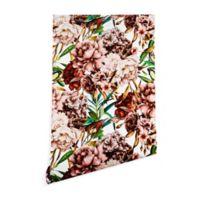 Deny Designs Marta Barragan Camarasa Vintage Flowers 2-Foot x 10-Foot Wallpaper in Pink