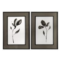Uttermost Solitary Sumi-e 30-Inch x 42-Inch Framed Floral Prints (Set of 2)