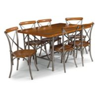 Home Styles Orleans 7-Piece Dining Set in Caramel